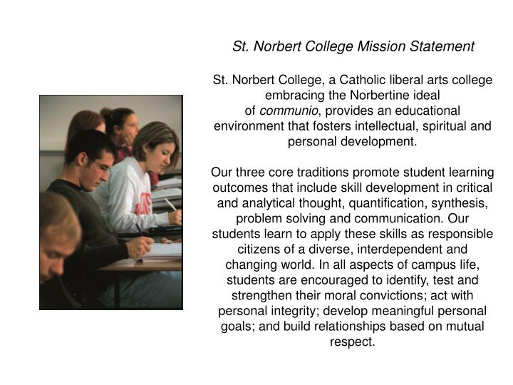 St. Norbert College Mission Statement