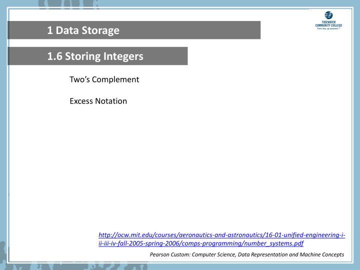 1 Data Storage