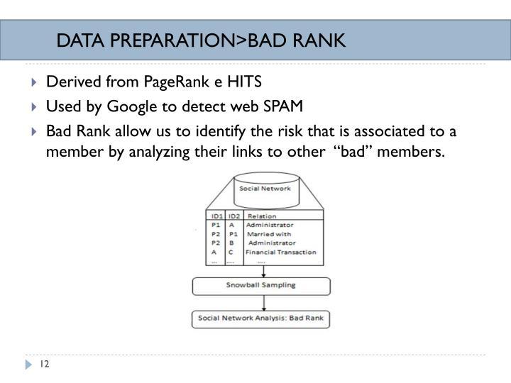 DATA PREPARATION>BAD RANK