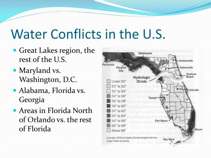 Water Conflicts in the U.S.