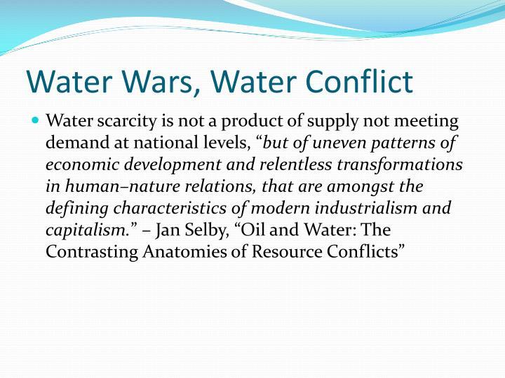 Water Wars, Water Conflict