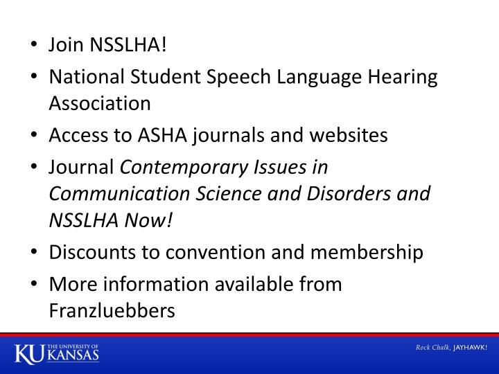 Join NSSLHA!