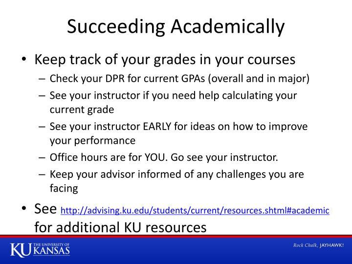 Succeeding Academically