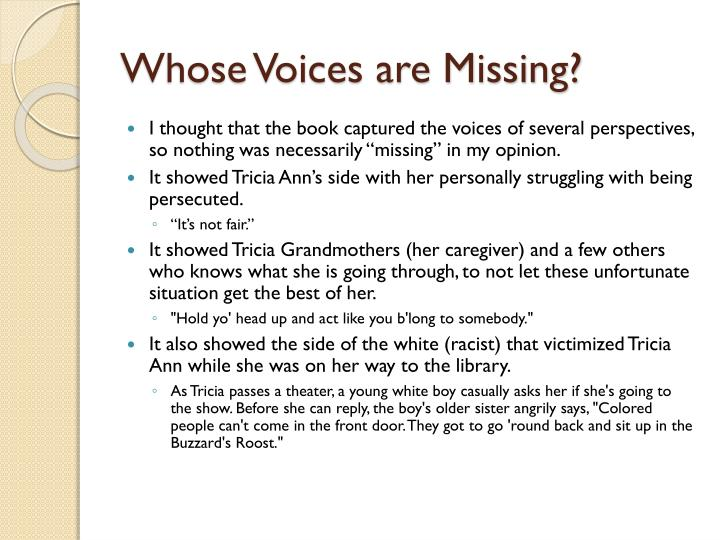 Whose Voices are Missing?