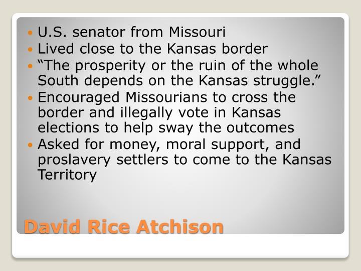U.S. senator from Missouri