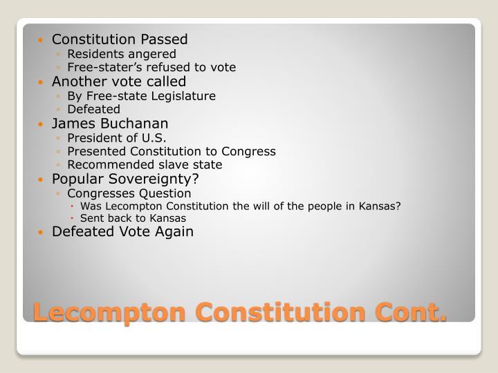 Constitution Passed