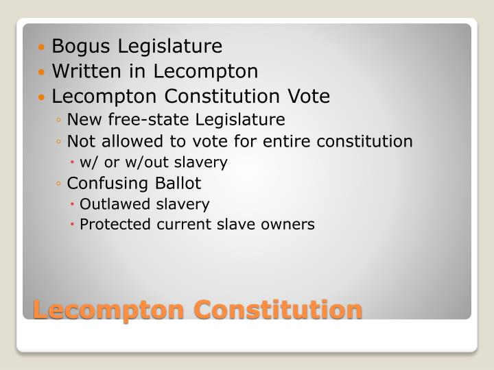 Bogus Legislature