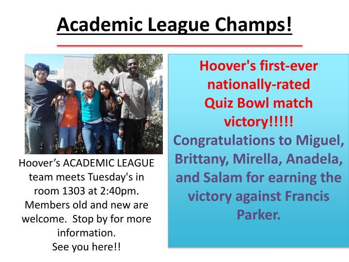 Academic League Champs!