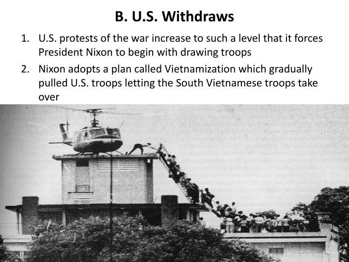 B. U.S. Withdraws