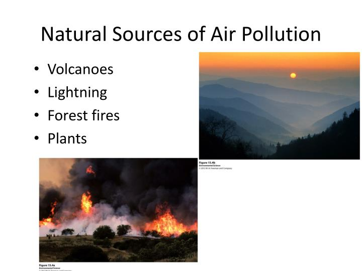natural sources of air pollution essay The source of air pollutants is of two types which are the artificial sources caused by man and the natural sources which are resulting from the natural cases air pollution has a lot of the health effect of a human being and other animals.