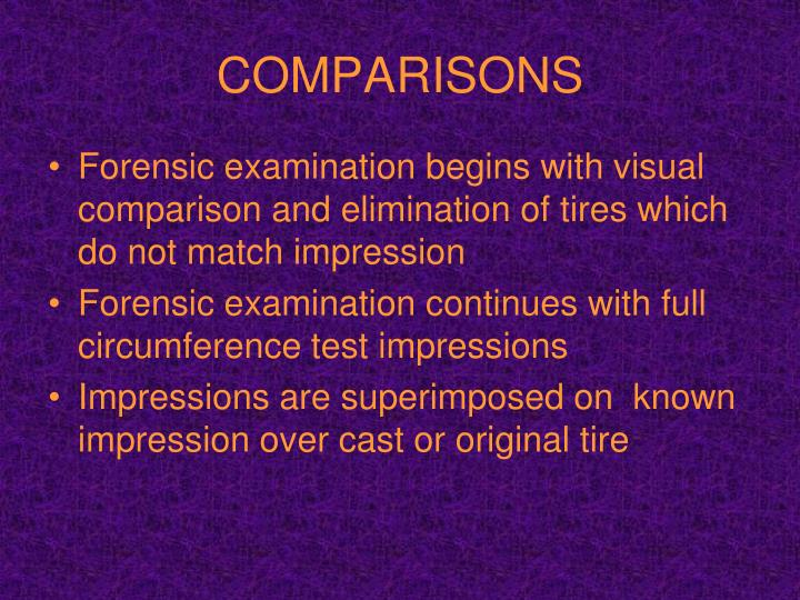 COMPARISONS