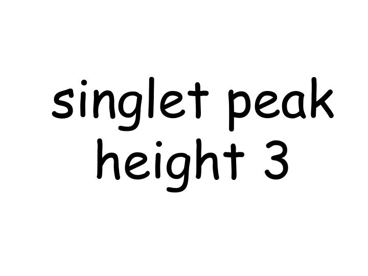 singlet peak height 3