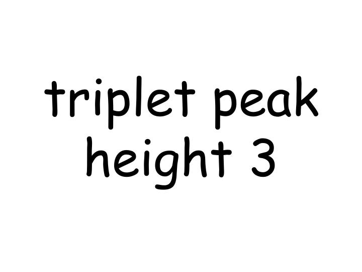 triplet peak height 3