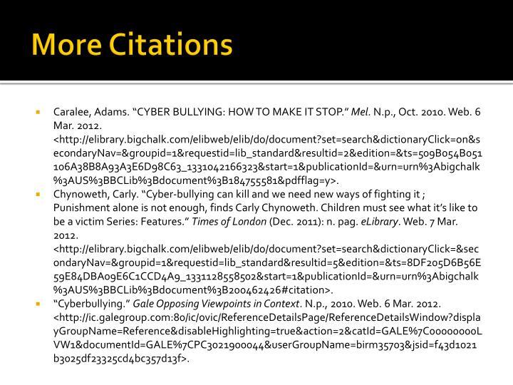 More Citations