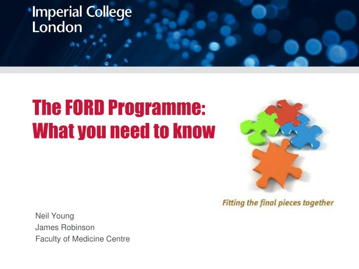 The ford programme what you need to know