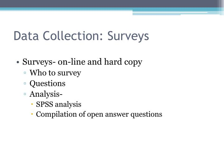 Data Collection: Surveys