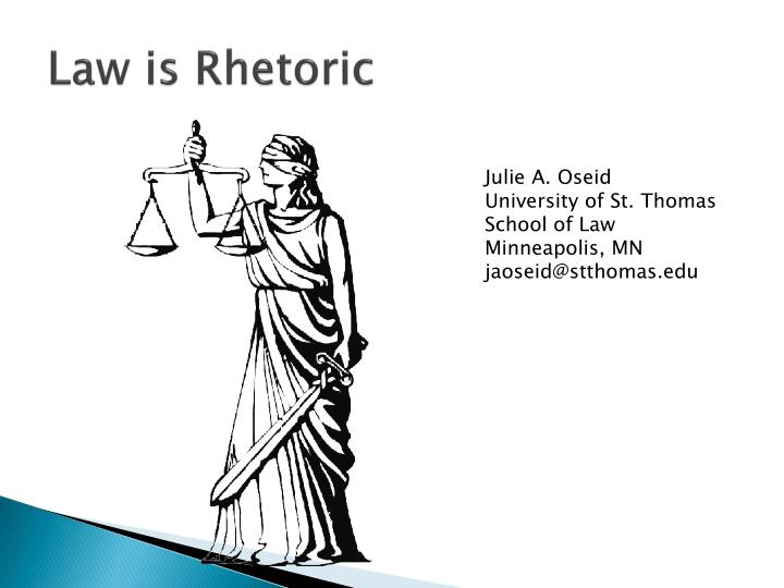 Law is Rhetoric