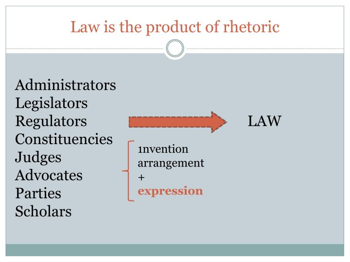 Law is the product of rhetoric