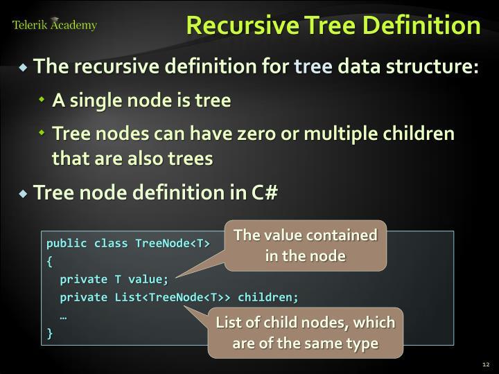 Recursive Tree Definition