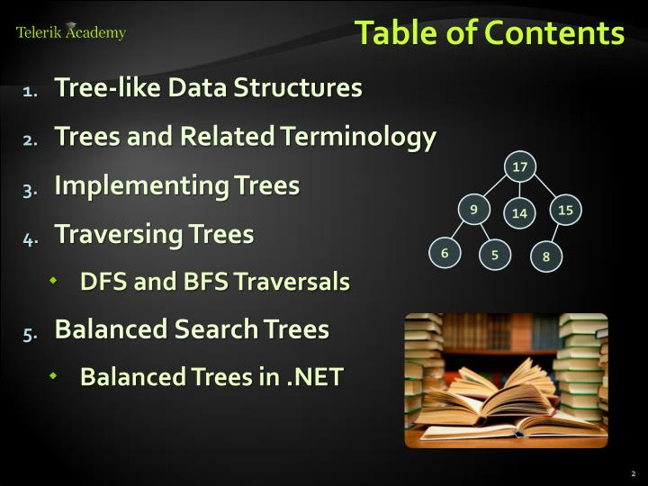 Tree-like Data Structures