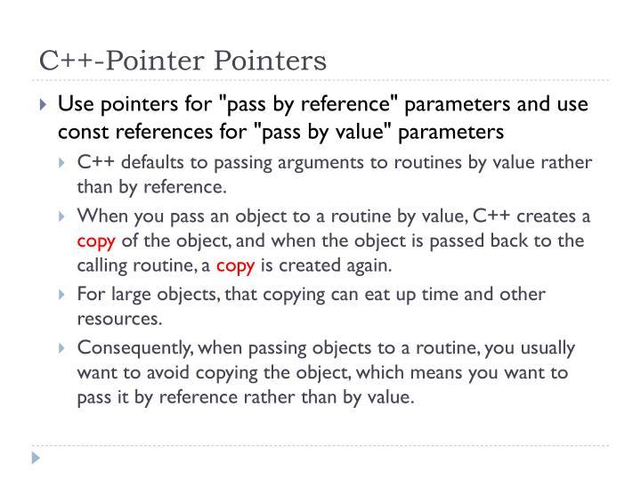 C++-Pointer Pointers