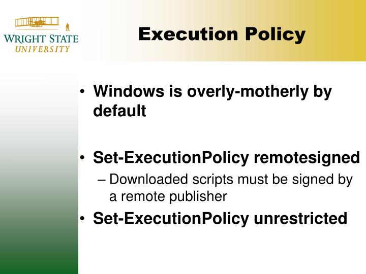 Execution Policy