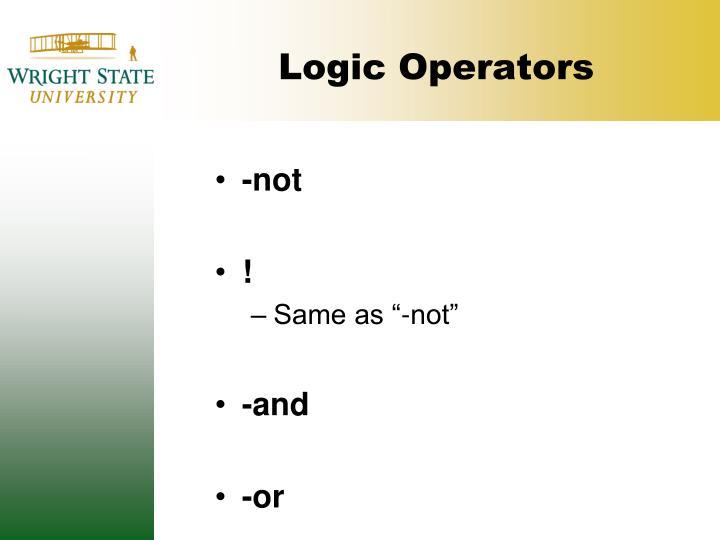 Logic Operators