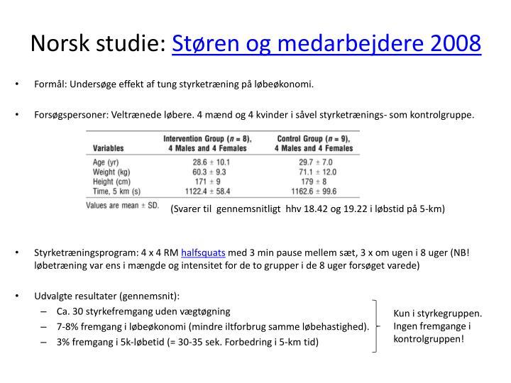 Norsk studie: