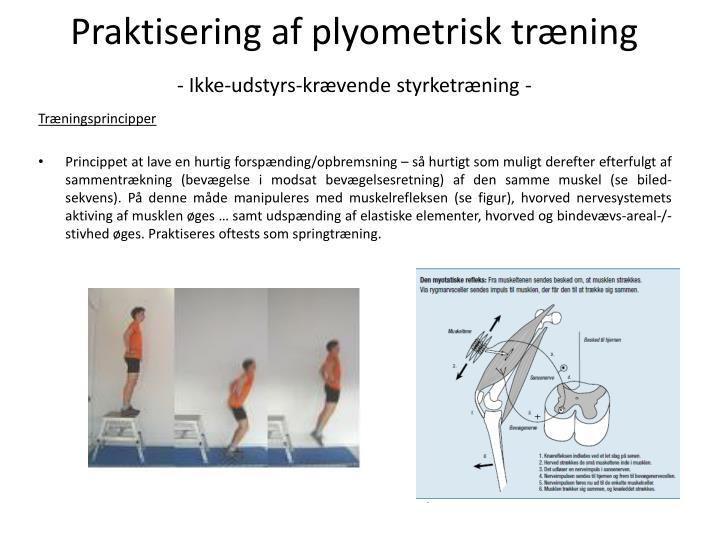 Praktisering af plyometrisk trning