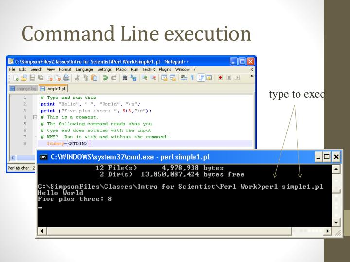 Command Line execution
