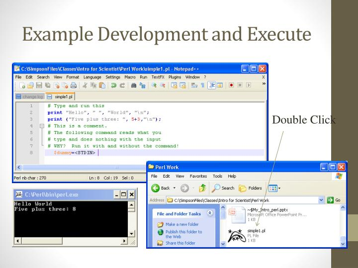 Example Development and Execute