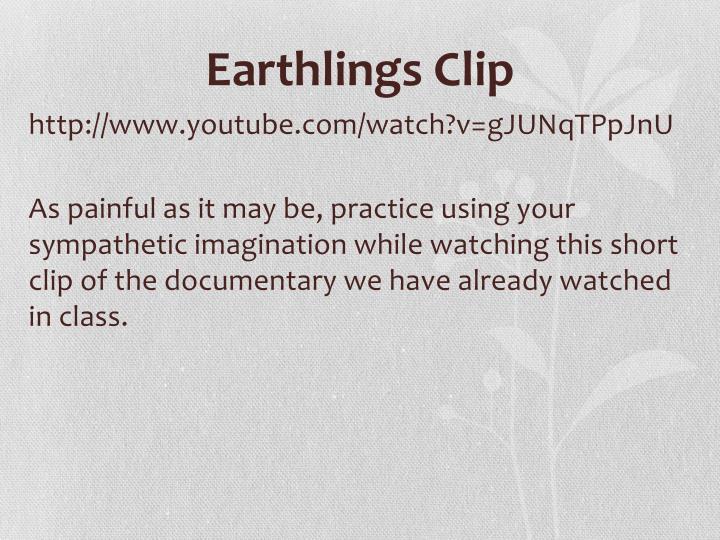 Earthlings Clip