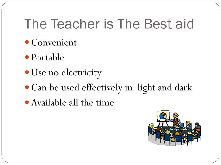 The Teacher is The Best aid