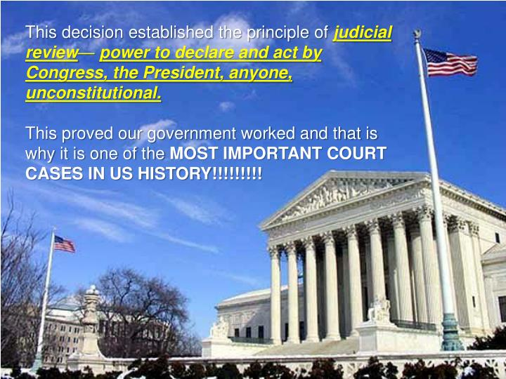 This decision established the principle of