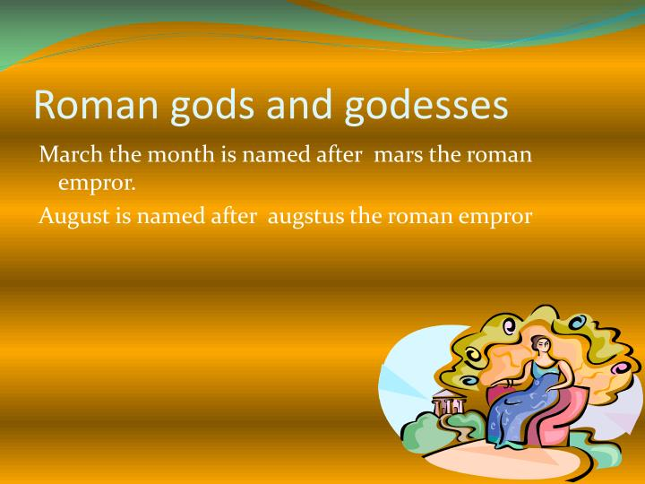 Roman gods and godesses