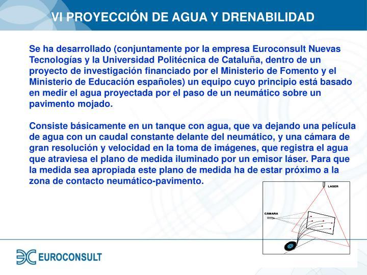VI PROYECCIÓN DE AGUA Y DRENABILIDAD
