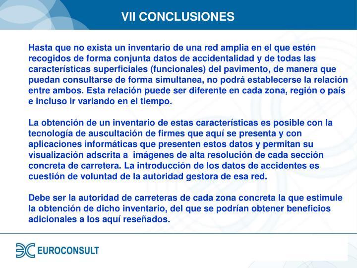 VII CONCLUSIONES