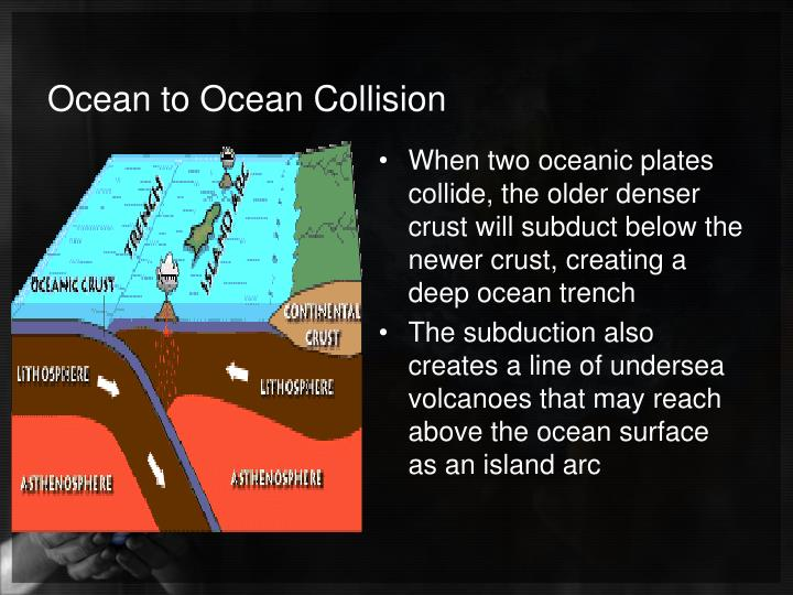 Ocean to Ocean Collision