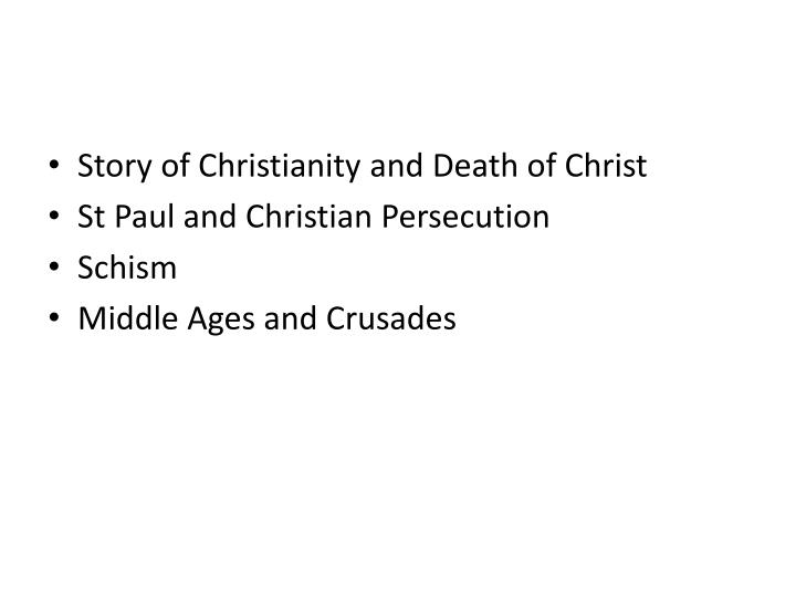 Story of Christianity and Death of Christ