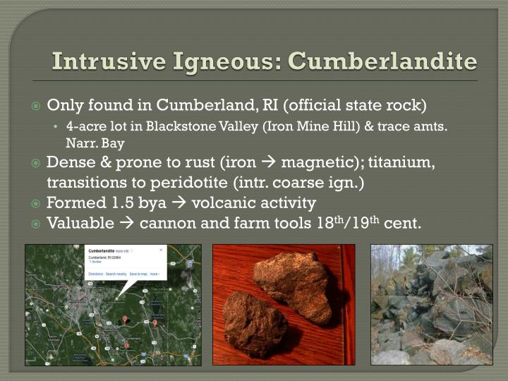 Intrusive Igneous: Cumberlandite