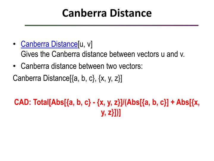 Canberra Distance