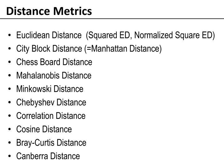 Distance Metrics