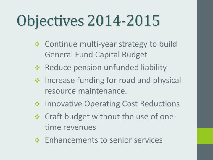 Objectives 2014-2015