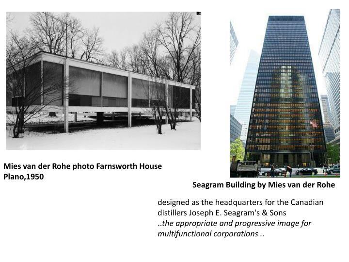 Ppt find 1220 design history post war modernism for Seagram building ppt