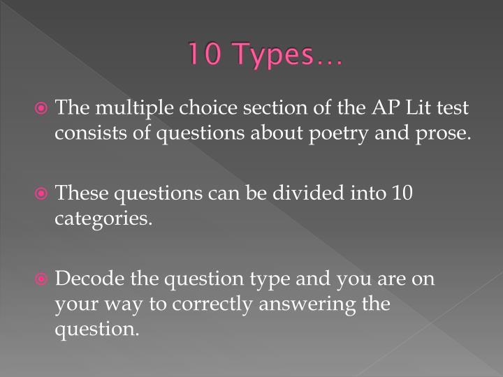10 Types…