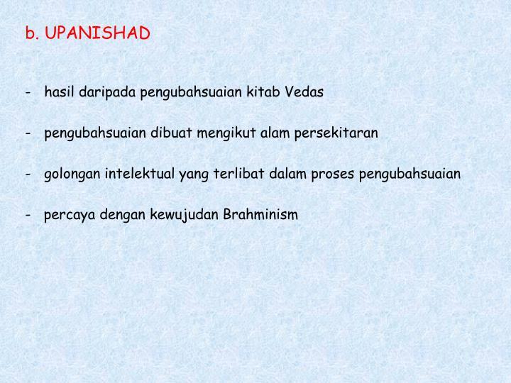 b. UPANISHAD