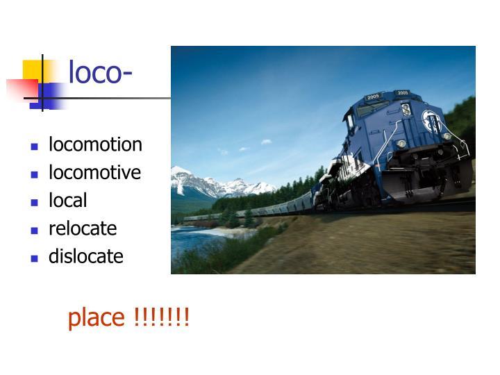 loco-