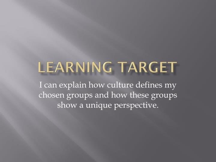 Learning target