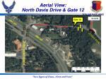 aerial view north davis drive gate 12