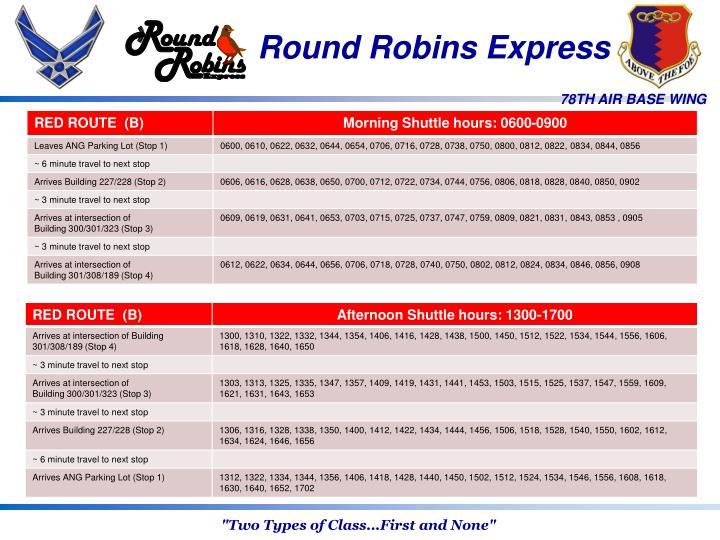 Round Robins Express